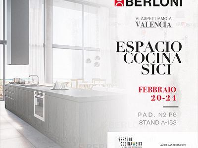 From 20 to 24 February 2017 Berloni will participate at SICI, the International Kitchen Fair, in Valencia.